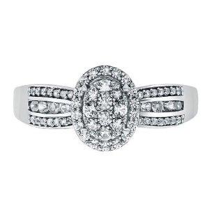 Helzberg Diamond1/2 ct. tw. Diamond Ring in 10K White Gold