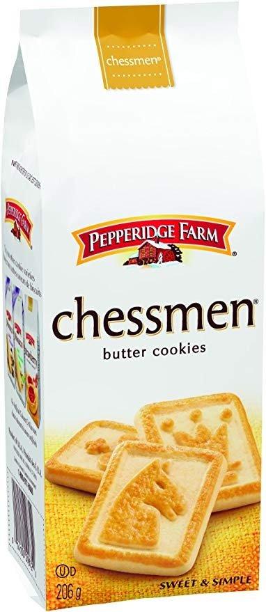 国际象棋图案黄油饼干