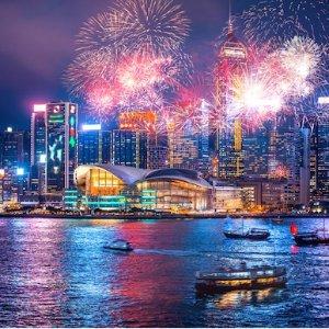 往返低至$385北美东西海岸多城市至中国香港机票超好价