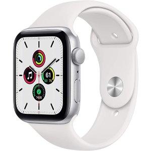 Apple银色表壳+白色运动表带Watch SE (GPS, 44mm)