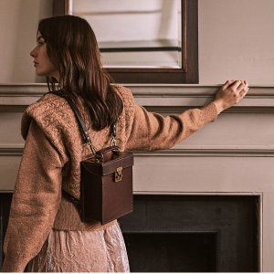 Classic Box Leather Backpack/Handbag by Beara Beara