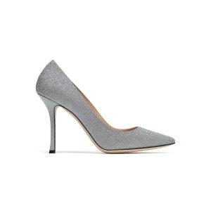 Sergio Rossi银色亮片高跟鞋