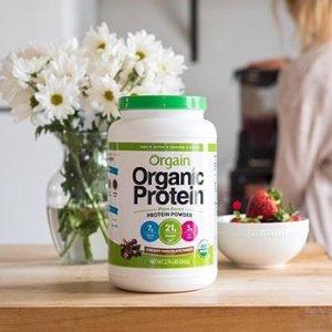 $16.87Orgain Organic Plant Based Protein Powder, Creamy Chocolate Fudge, 2.03 Pound