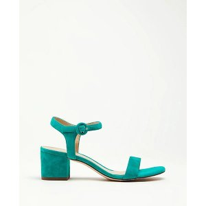 Ann TaylorKennedy Suede Block Heel Sandals   Ann Taylor