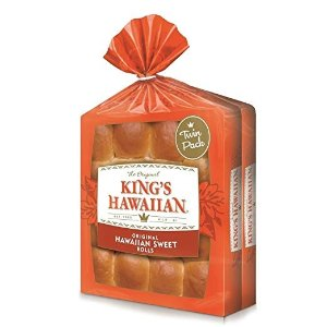 King's Hawaiian 原味甜面包卷 32块装