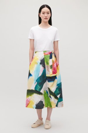 A-LINE WRAP-OVER SKIRT - Pink - Skirts - COS