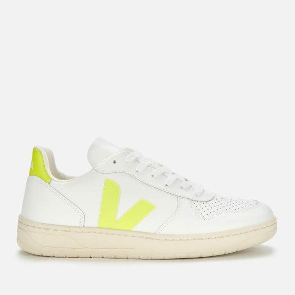 柠檬黄小白鞋