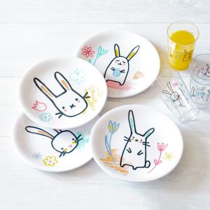 Mainstays 手绘小兔子沙拉盘4件套