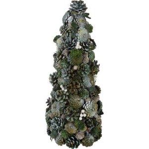 银色松果树装饰 48x20cm