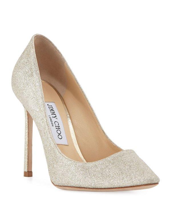 Romy 10cm闪片鞋