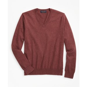 V领棉质毛衣