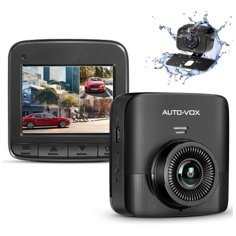 AUTO-VOX D5PRO Dual Dash Cam Front and Rear