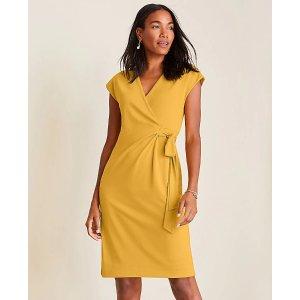 Ann TaylorPiped Matte Jersey Wrap Dress | Ann Taylor