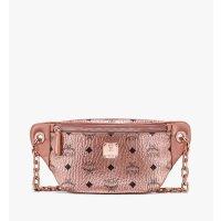MCM 粉色链条腰包