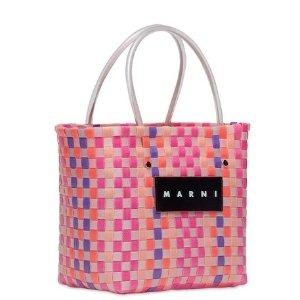 满额88折 £74收封面同款菜篮子Marni 2019秋冬新款菜篮子上新 可可爱爱超时尚
