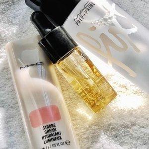 8.5折+送定妆喷雾(价值$49最高)最后一天:MAC 精选保湿产品 收妆前提亮乳、妆前保湿条