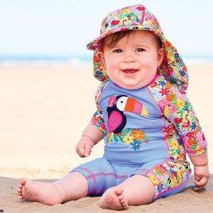 b1a872cc8d JoJo Maman BebeJungle 1-Piece Sun Protection Suit Duck 1-Piece Sun  Protection Suit