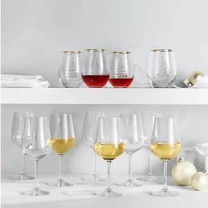 $19.99(原价$99.99)Mikasa Gianna 高品质酒杯8件套清仓热卖 聚餐必备