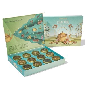 VAHDAMChai Tea Assortment Gift Set - 12 Tin Caddy