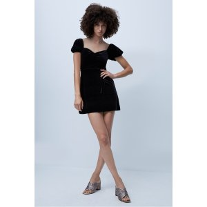French ConnectionYule Velvet Fit And Flare Dress