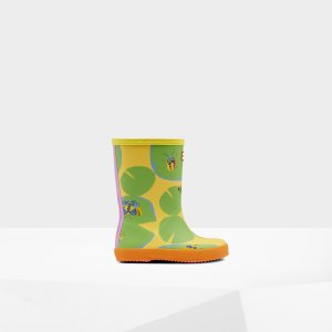 HunterOriginal Lily Pad 儿童印花雨靴