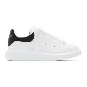 Alexander McQueen定价$570男士黑尾小白鞋