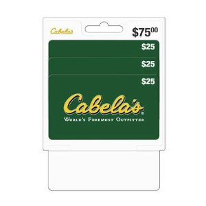 $25 Cabela's Gift Card, 3 pk.