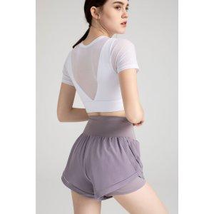 标价按满额享7折计算香芋紫短裤