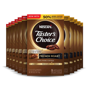 $10.37Nescafe Taster's Choice Instant Coffee, French Roast (Pack of 12)