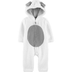 Carter's婴儿连帽羊羔绒连体衣
