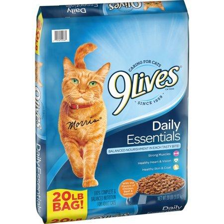 9Lives 鸡肉牛肉三文鱼味猫粮 20磅