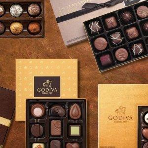 买一送一 £7.5收松露巧克力Godiva 精选巧克力、饼干礼盒 高甜预警 丝滑香醇 绝佳伴手礼
