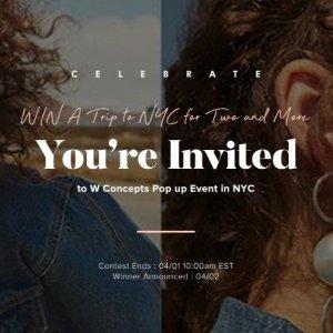 大奖价值$3000+参加即可享8折W Concept 邀您去纽约 VIP时尚派对等你来