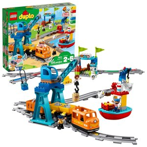 $83.99 (原价$119.99)史低价:LEGO 幼童duplo系列智能货运火车10875,app控制 感应积木