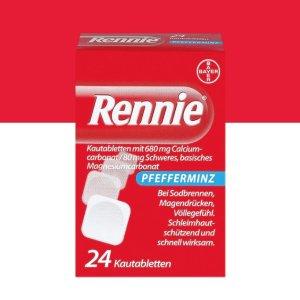 7折+直减€5 入手仅€6.84德国家庭必备药Rennie 咀嚼片 饮食不规律 胃痛胃胀再不怕