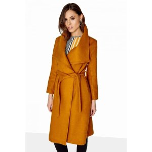 Girls on Film Mustard Coat