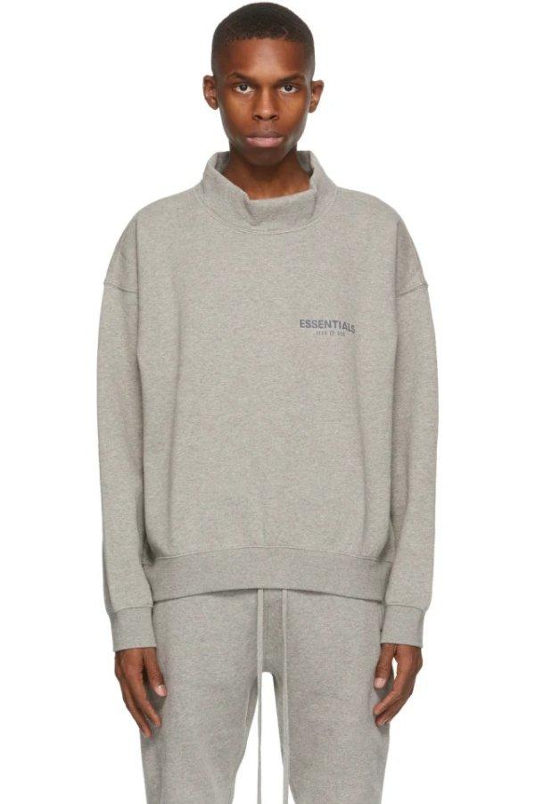 Grey 半高领卫衣