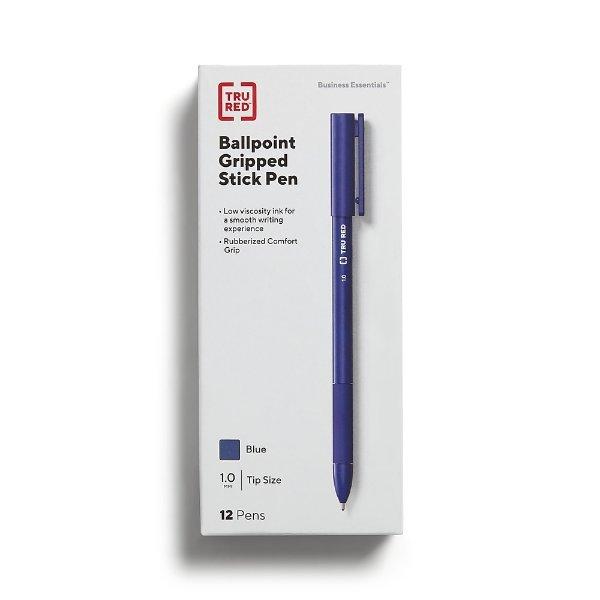 蓝色圆珠笔12个