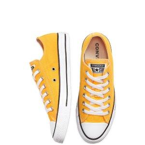 Converse季节黄色款低帮帆布鞋