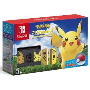 $589.99 + 包邮Switch Pikachu 皮卡丘限定主机套装 主机游戏精灵球都有