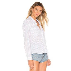 superdown Damion Button Up Shirt in Rainbow Stripes from Revolve.com