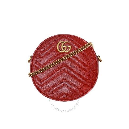 Gg Marmont迷你红色小圆包