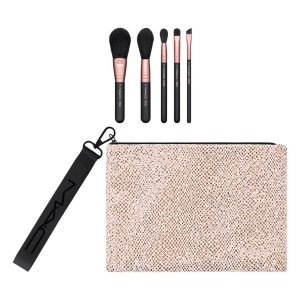 $42.5(价值$165)+送彩妆5件套MAC Cosmetics 刷具5件套相当于2.5折热卖  旅行必备