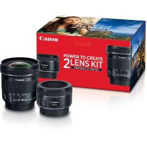 $349Canon Portrait & Travel 2 Lens Kit with 50mm f/1.8 and 10-18mm f/4.5-5.6 Lenses