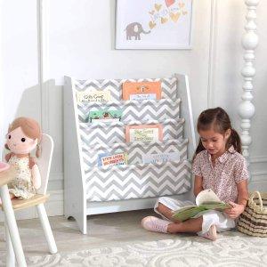$38.03(原价$91.42)史低价:KidKraft 布艺儿童书架 从小培养宝宝收纳功能
