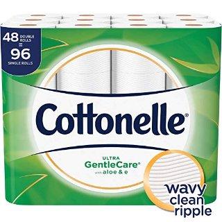 $16 包邮Cottonelle 芦荟+维E超柔呵护系列厕纸48卷