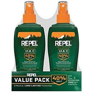 Amazon.com : Repel Insect Repellent Sportsmen Max Formula Spray Pump 40% DEET, 2/6-Ounce : Garden & Outdoor