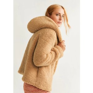 Mango泰迪熊外套