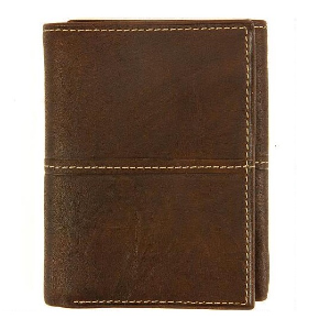 $5Wilsons Men's Leather Rustler Leather Trifold Wallet