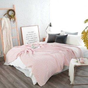 Pink Ella Cotton Muslin Blanket